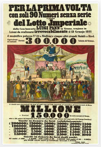Cartel de bingo de 1844. Foto: Lottomaticaitalia.