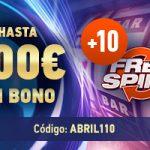Más giros gratis en el Casino de Sportium